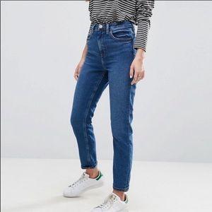 Asos Denim Fairleigh High Rise Jeans Size 28